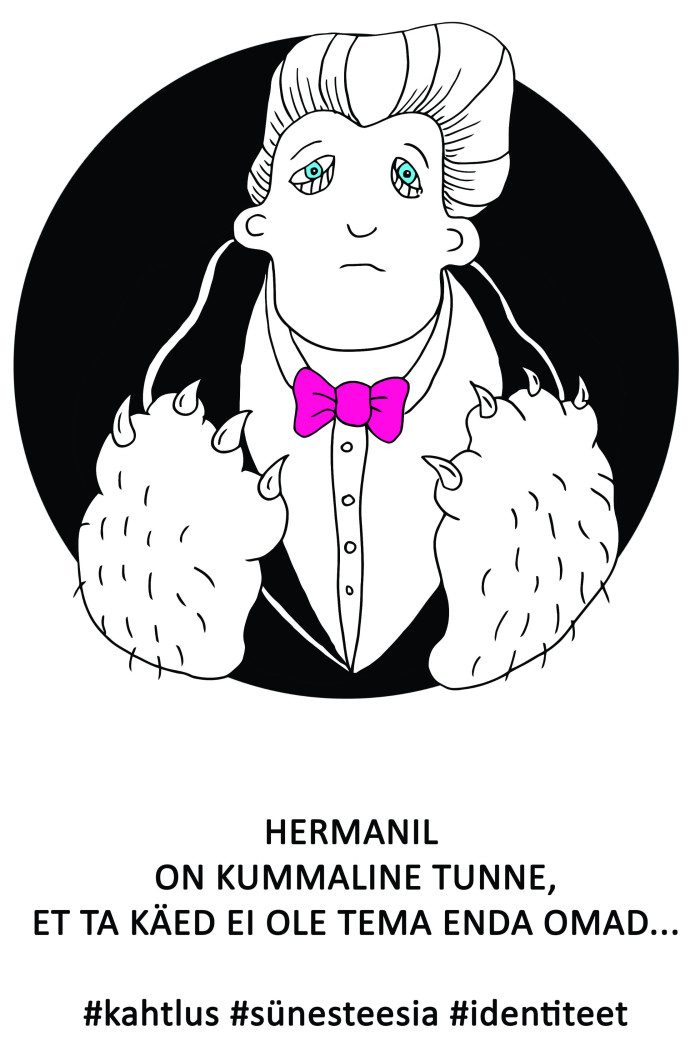"Ave Taaveti karikatuur ""Herman"""