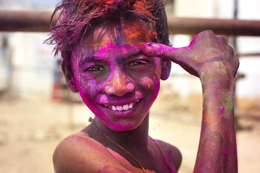 Holi festivali tähistamine Hampi külas Karnātaka osariigis Indias. Foto(d): Ivonne Veith