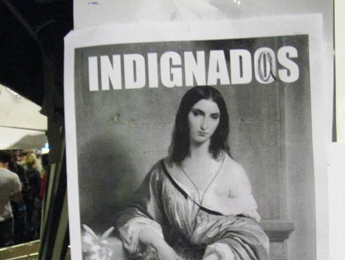 Kodanikuliikumise Indignados poster, mis kutsus inimesi tänavatele tulema. Foto: Flickri kasutaja Yohay Elam (CC BY 2.0)