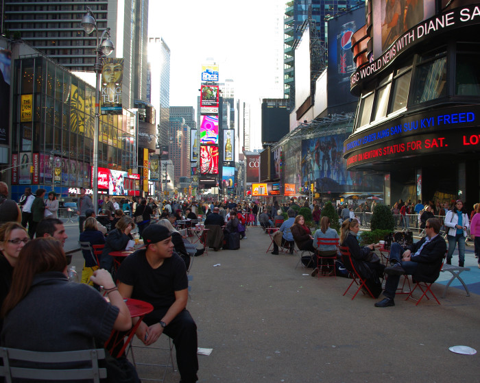 Times Square – closed off overnight and turned into a pedestrian area in 2009. Photo: Veronika Valk