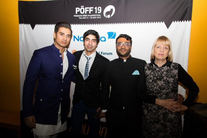 """""""Arrrrmastuse"""" meeskond (vasakult): Shiv Pandit, Arfi Lamba, Sudhanshu Saria ja Katharina Suckale. Foto: Kristel Aija"""