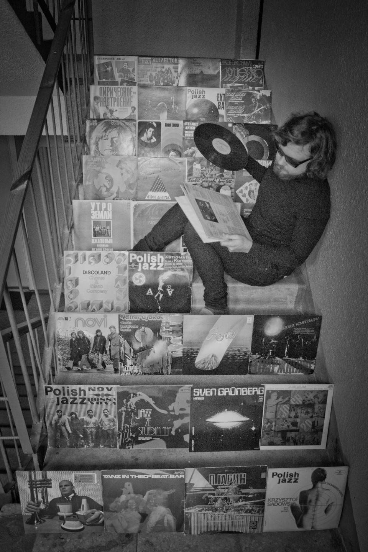 Misha Panfilov among some of his rarities. Photo: Ksenia Matuzova.