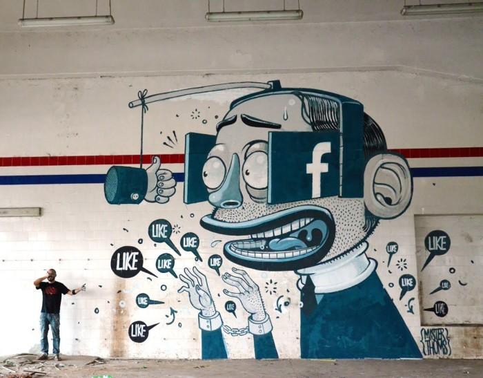 """Itaalia tänavakunstniku Mister Thomsi töö """"Like a Vision"""" Ferentinos. YouTube'i kuvatõmmis"""