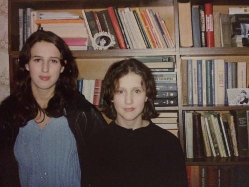Jaana ja Brigitta Davidjants 1990ndatel. Foto: erakogu