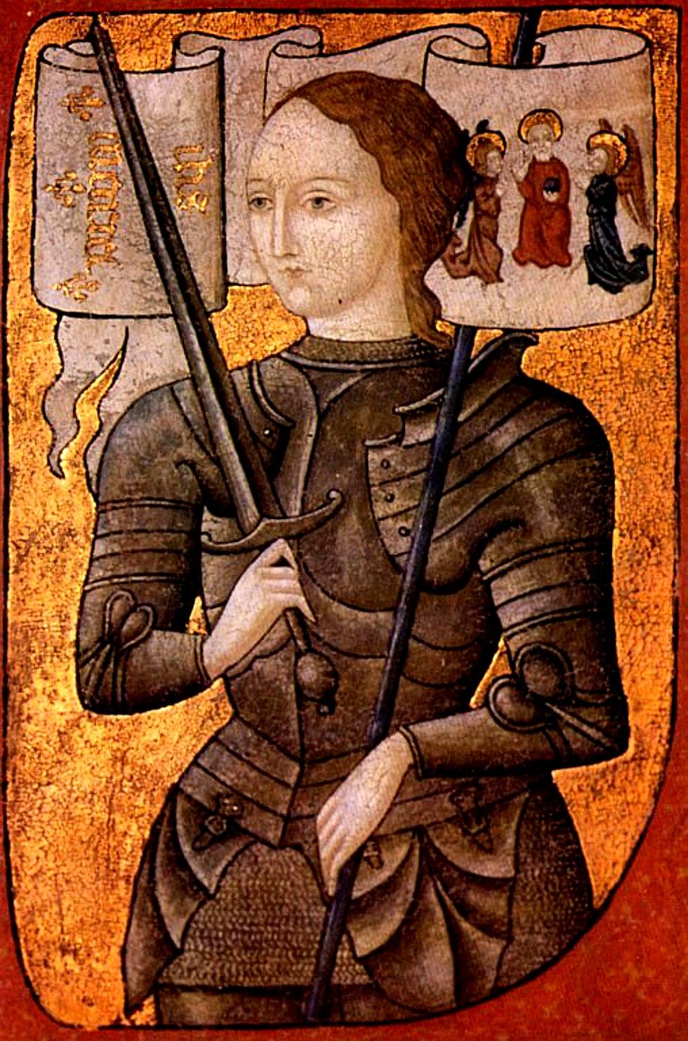 Kunstniku tõlgendus Jeanne d'Arcist 15. sajandi lõpus. Pilt: Wikipedia