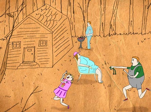 """Kaader Joel Vaudreuil` animatsioonist """"Vaikne jõgi"""""""