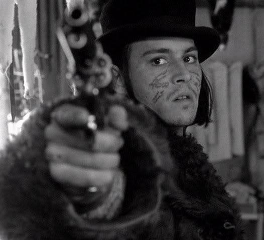 """Johnny Depp filmis """"Dead Man""""  (1995)"""
