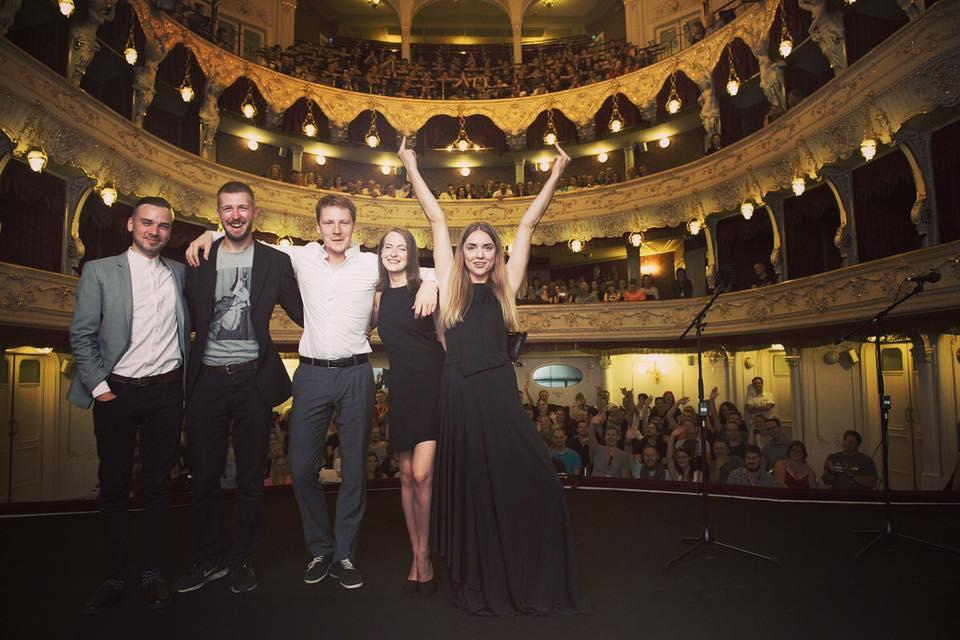 Kaader Triin Ruumeti mängufilmi Karlovy Vary esilinastuselt.