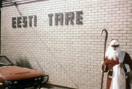 ERM Fk 2910:602 Jõuluvana Eesti Tare maja ees Perthis Austraalias 1979. a. Fotograaf teadmata.