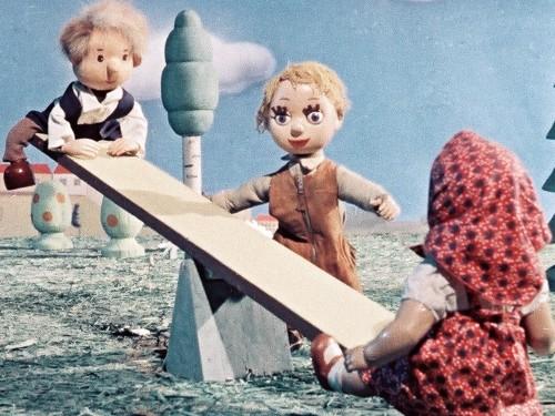 """Kaader Elbert Tuganovi nukufilmist """"Peetrikese unenägu"""" (1957)"""