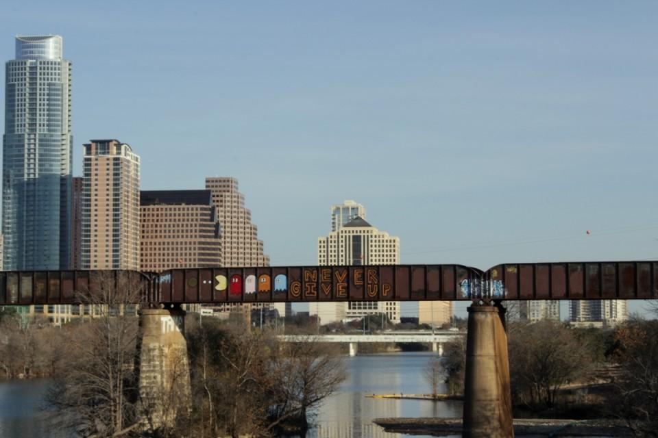Inspireeriva tänavakunsti poolest tuntud Austin Graffiti Bridge. Foto: Kaija-Luisa Kurik