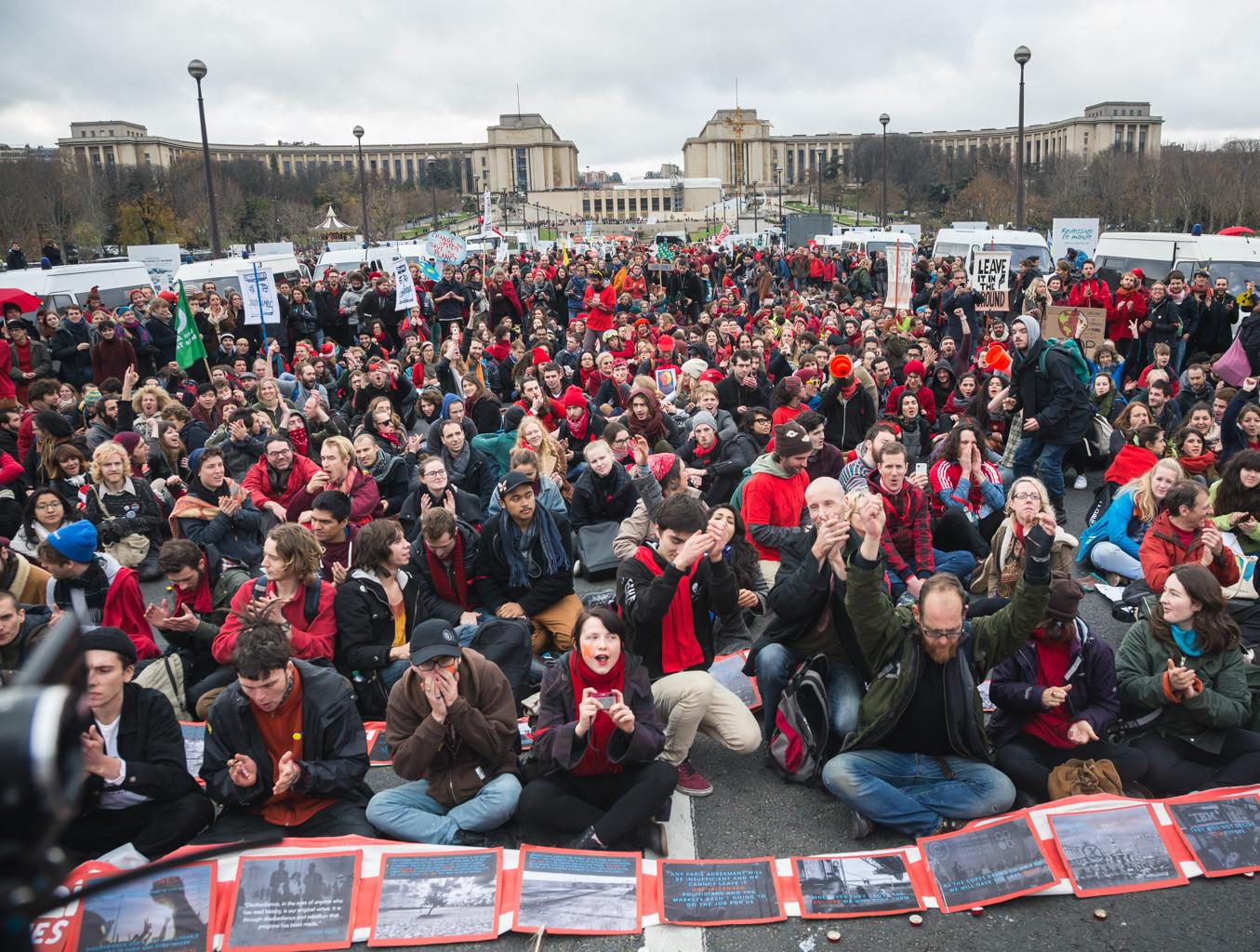 Kliimasoojenemise vastane meeleavaldus Pariisis detsembris 2015. Foto: Renee Altrov