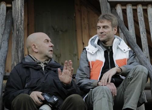 Peeter Laurits ja Valdur Mikita võttepäeval. Foto: Jaan Tootsen
