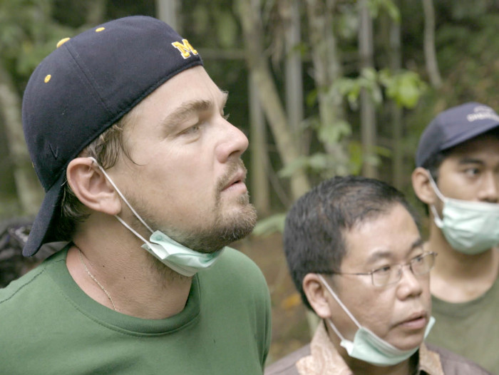 "Leonardo DiCaprio dokumentaalfilmis ""Before the Flood"". Kaader filmist"