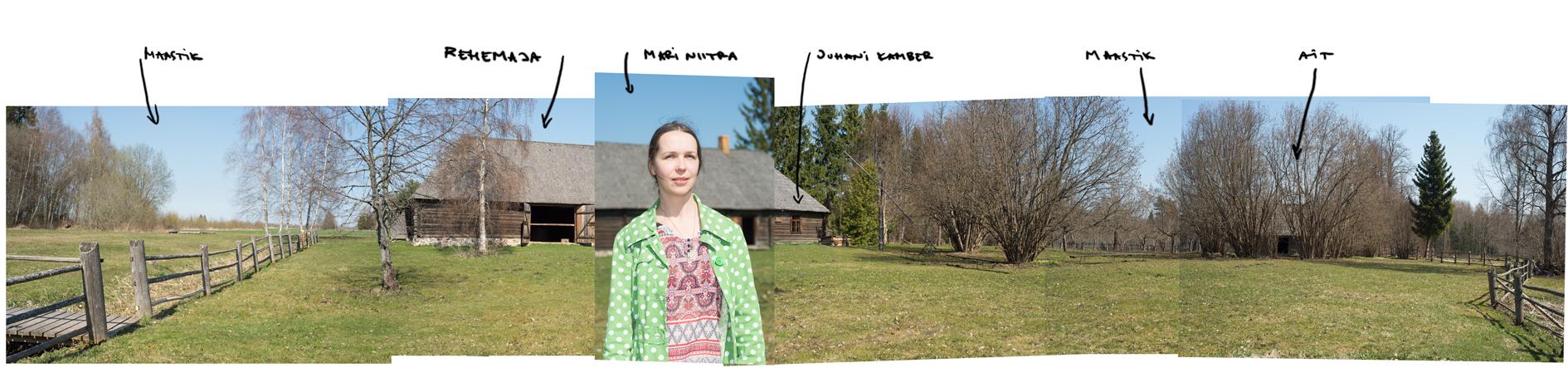 Liivi Muuseumi juhataja Mari Niitra Juhan Liivi kodutalu õuel. Foto: Madis Katz