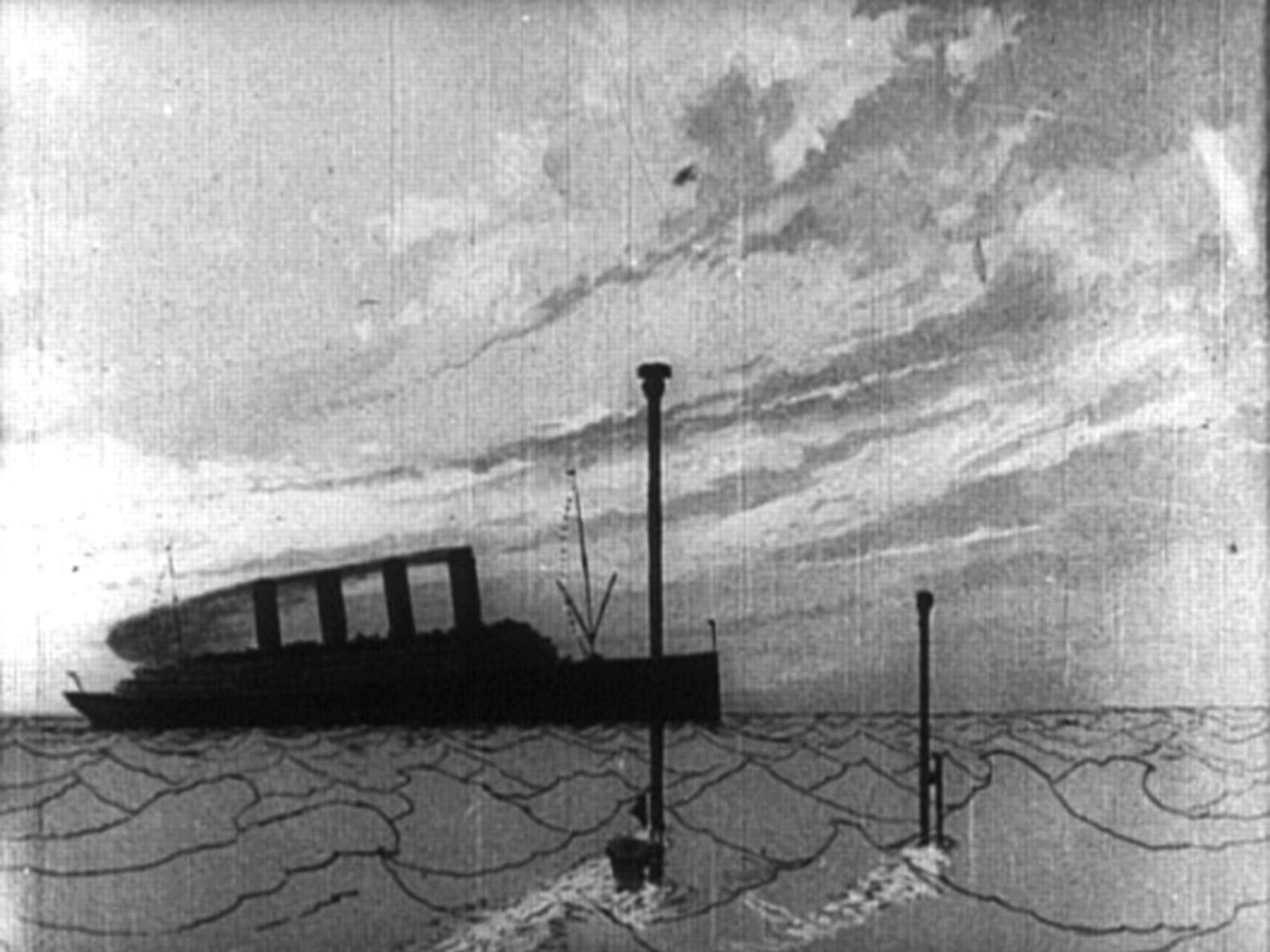 """""""Lusitania uppumine"""". Kaader filmist"""