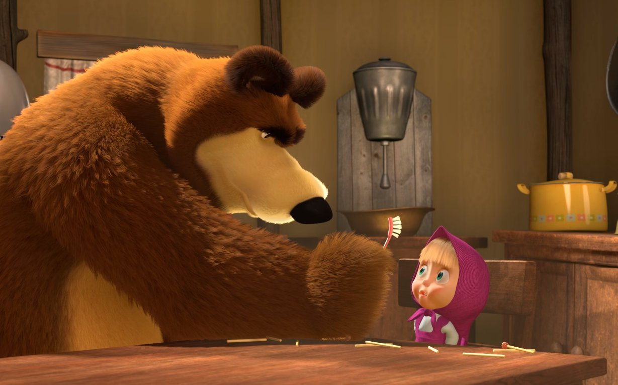 """Kaader animasarjast """"Maša ja karu"""" (2009)"""
