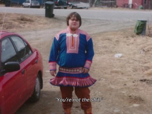 "Saami räppar SlinCraze lapsena. Kaader filmi ""Arktika superstaar"" treilerist"