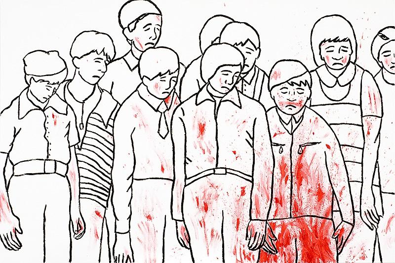 """Marko Mäetamm. """"Mina olen seal"""". Õli lõuendil, 150 x 100 cm, 2006"""