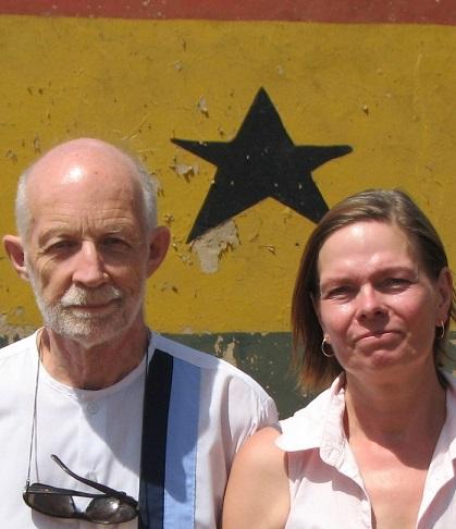 Mart Kuurme ja Anu Joon – vabatahtlikud Ghanas. Foto: MTÜ Mondo.