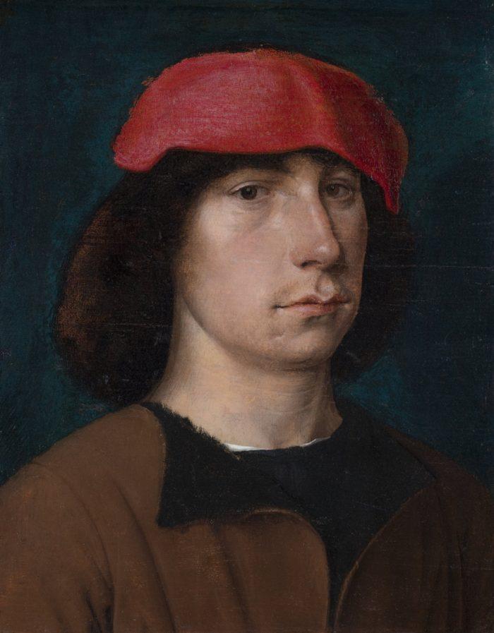 """Michel Sittowi maal """"Mees punase mütsiga"""". Allikas: Detroiti kunstiinstituut, Anne ja Henry Ford II kingitus"""