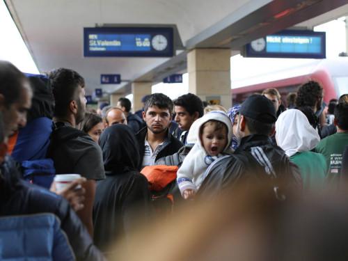 Süüria põgenikud Viinis. Foto: Josh Zakary (CC by 2.0)