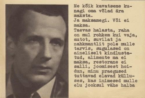 """Mihhail Velleri """"Ühesõiduhobu""""."""
