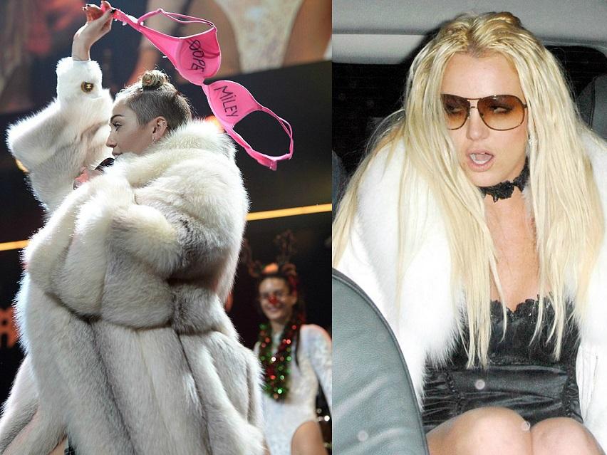 Miley Cyruse ja Briney Spearsi näitel ei aita kallis karusnahkne kasukas odavat väljanägemist varjata. Fotod: Internet