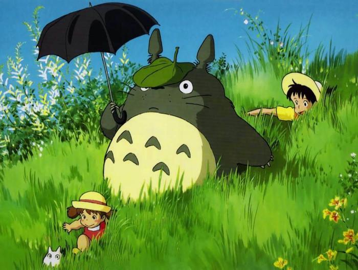"""Hayao Miyazaki üks armastatumaid tegelasi on metsatroll Totoro. Kaader filmist """"Minu naaber Totoro"""""""