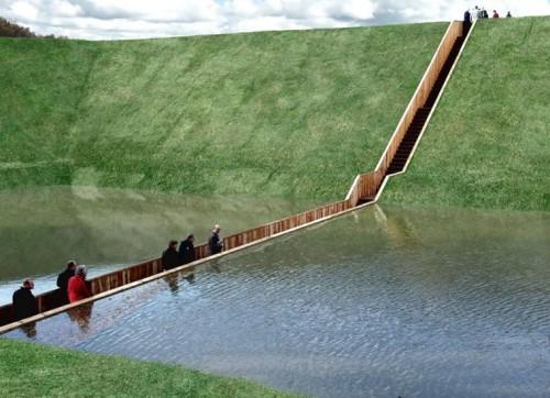 Sümpoosionil üles astuvate Ad Kili ja Ro Kosteri loodud Moses Bridge Hollandis.