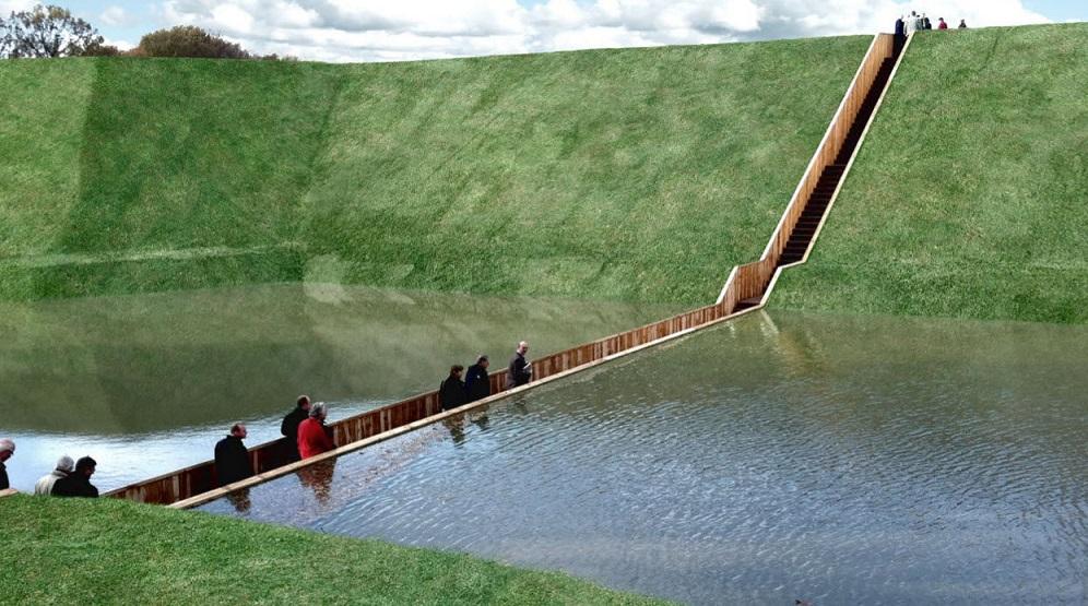 Sümpoosionil üles astuvate Ad Kili ja Ro Kosteri projekteeritud Moses Bridge Hollandis.