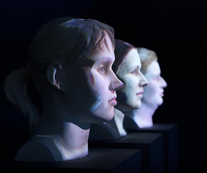 """Skulptuurid näitusel """"Nägemise õpetus"""". Foto: Annika Haas"""