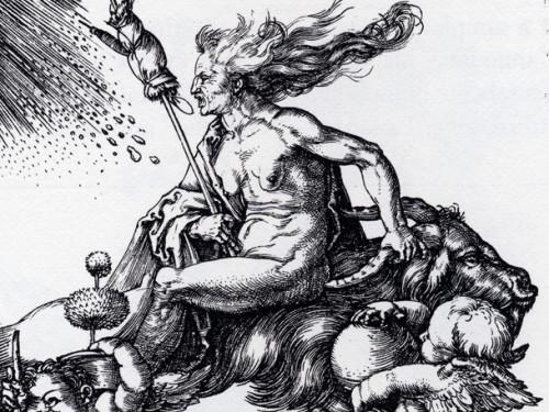 """Die Hexe"", Albrecht Dürer, ca 1500. Foto: Wikimedia Commons"