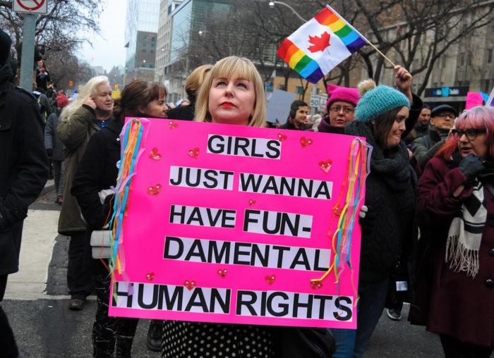Naiste marss 2017. aasta jaanuaris Torontos. Foto Silvia Maresca, Wikimedia Commons (CC BY 2.0)