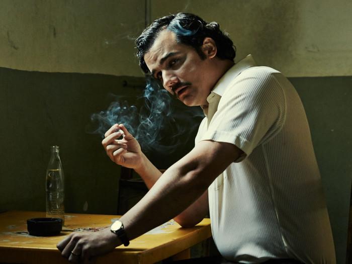 Kurikuulsat Kolumbia narkoparunit Pablo Escobari kehastab sarjas Wagner Moura. Kaader sarjast