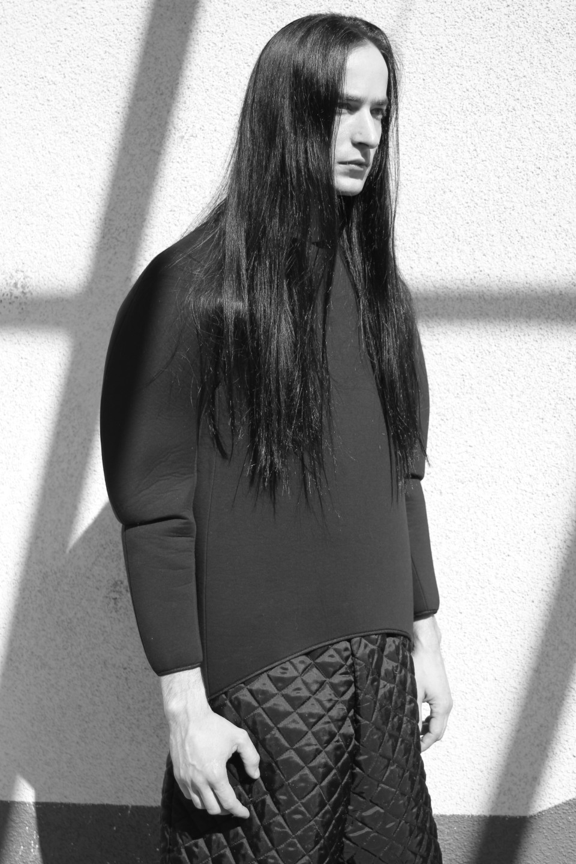 Reinis Ratnieks' untitled collection. Photo: Elizabeth Jane Ruben, style and make-up Zane Valujeva.
