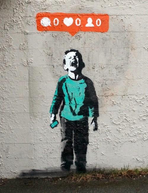 """Kanada tänavakunstniku I ❤ töö """"Nobody Likes Me"""" Vancouveris. Foto: streetartnews.net"""