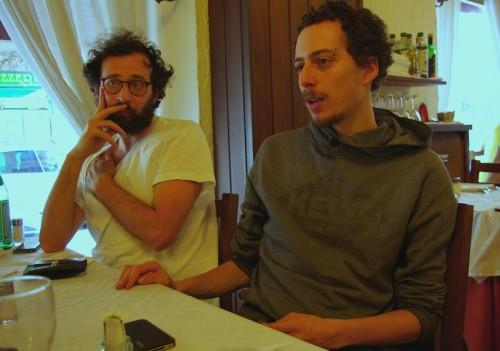 Noored itaalia filmirežssöörid Pietro De Tilla ja Guglielmo Trupia. Foto: Gert Look