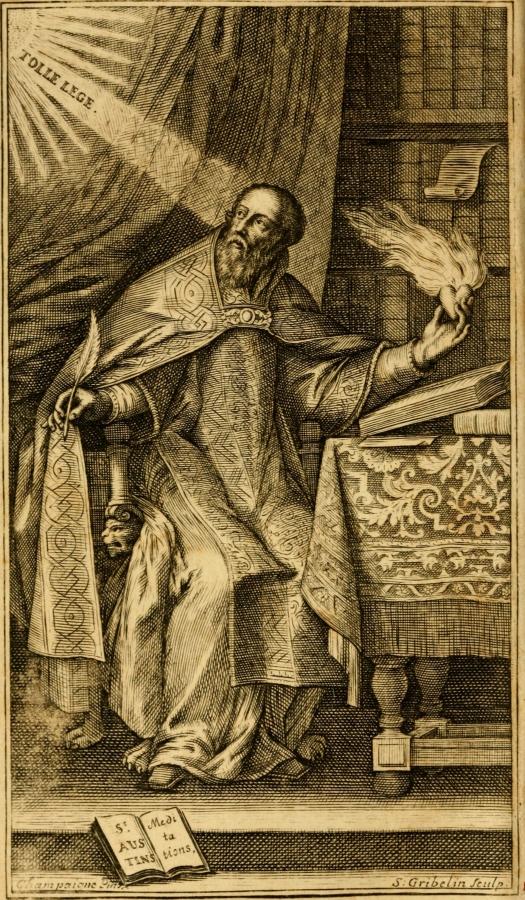 4.–5. sajandi teoloog Püha Augustinus. Raamatuillustratsioon aastast 1720. Allikas: Flickri kasutaja Internet Archive Book Images