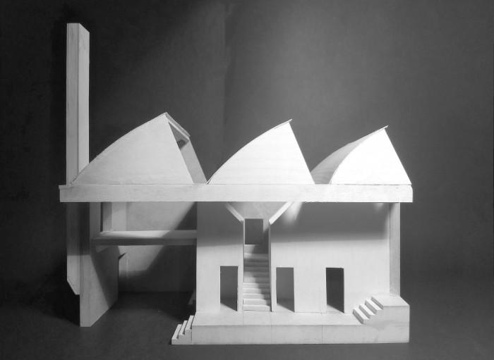 Taani arhitektuuritudengi Bjørn Graahi makett Võrgu 8 eramust