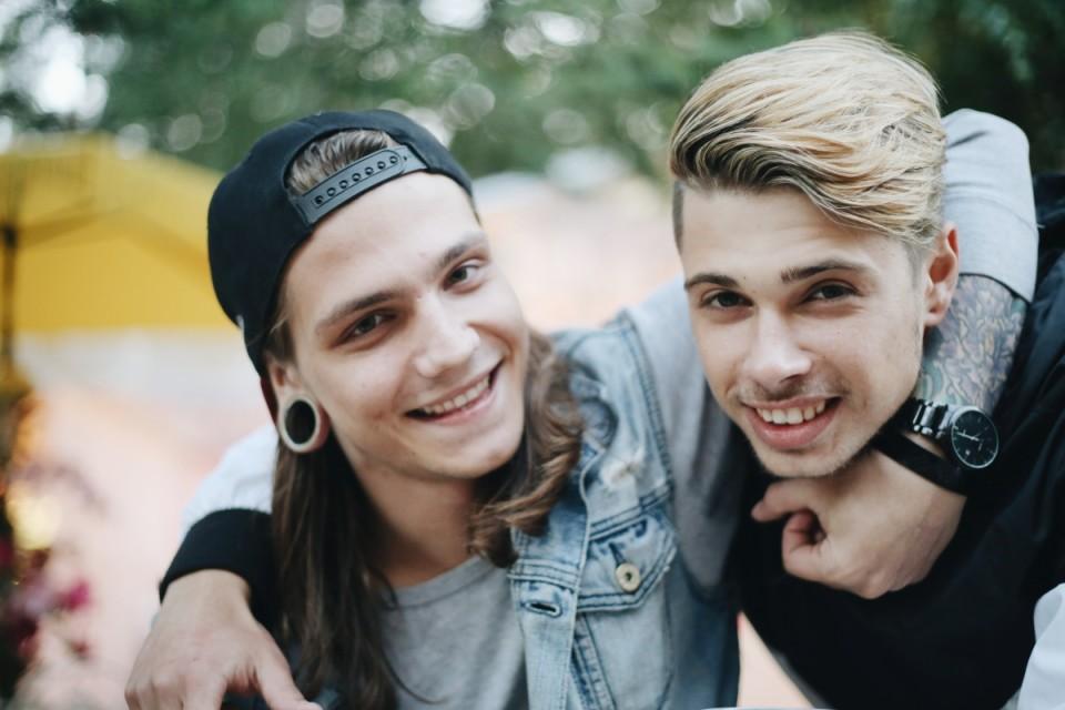 Nick (vasakul, 22, külastab Positivust teist aastat)
