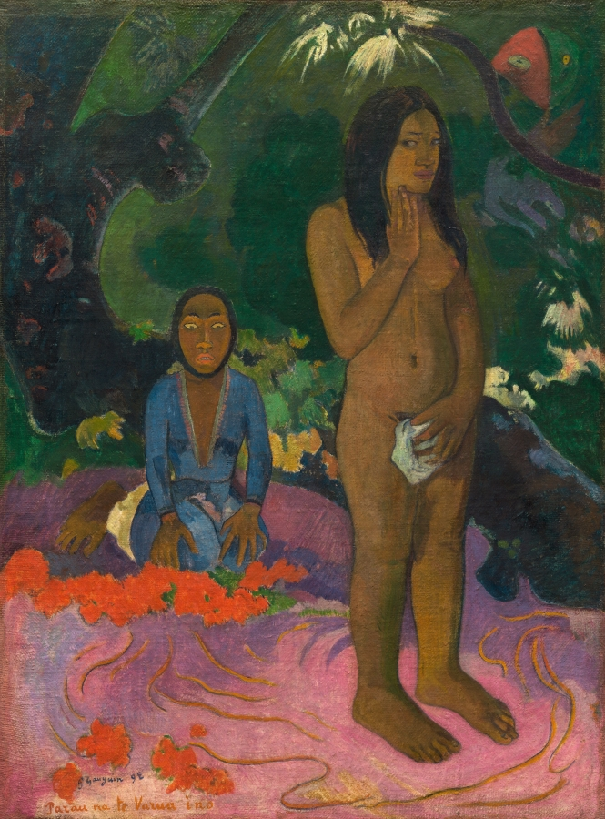 """Paul Gauguini maal """"Kuradi sõnad"""", 1892, Washingtoni rahvuslik kunstigalerii"""