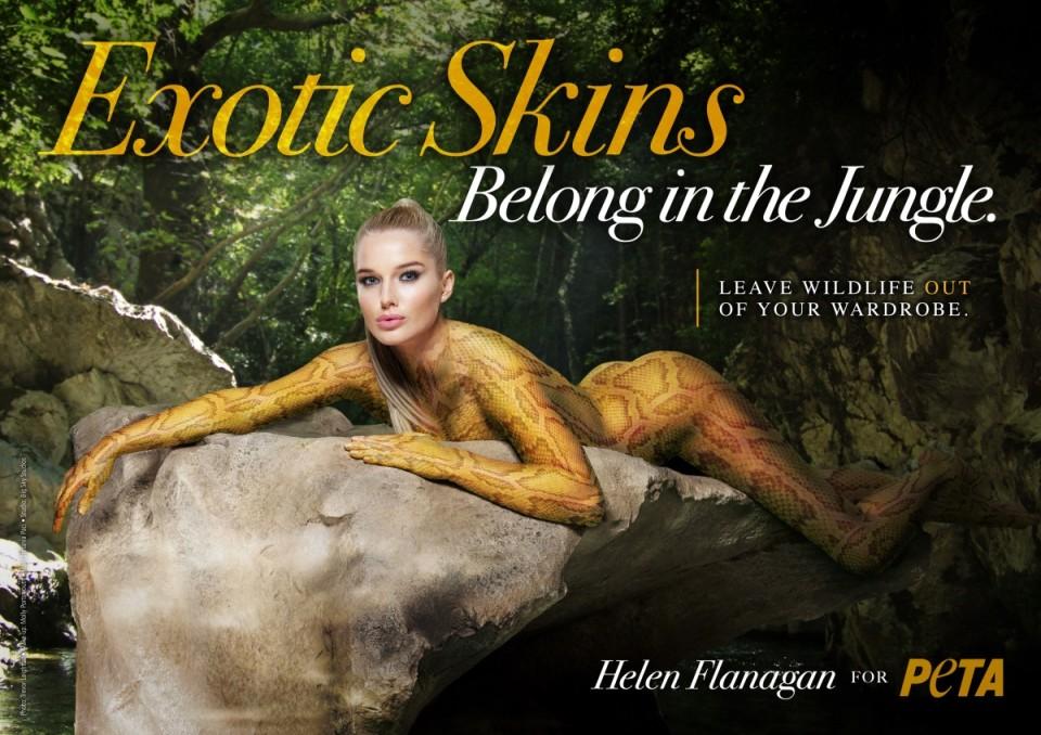 Näitlejanna, modell ja telesaatejuht Helen Flanagan PETA teavituskampaanias