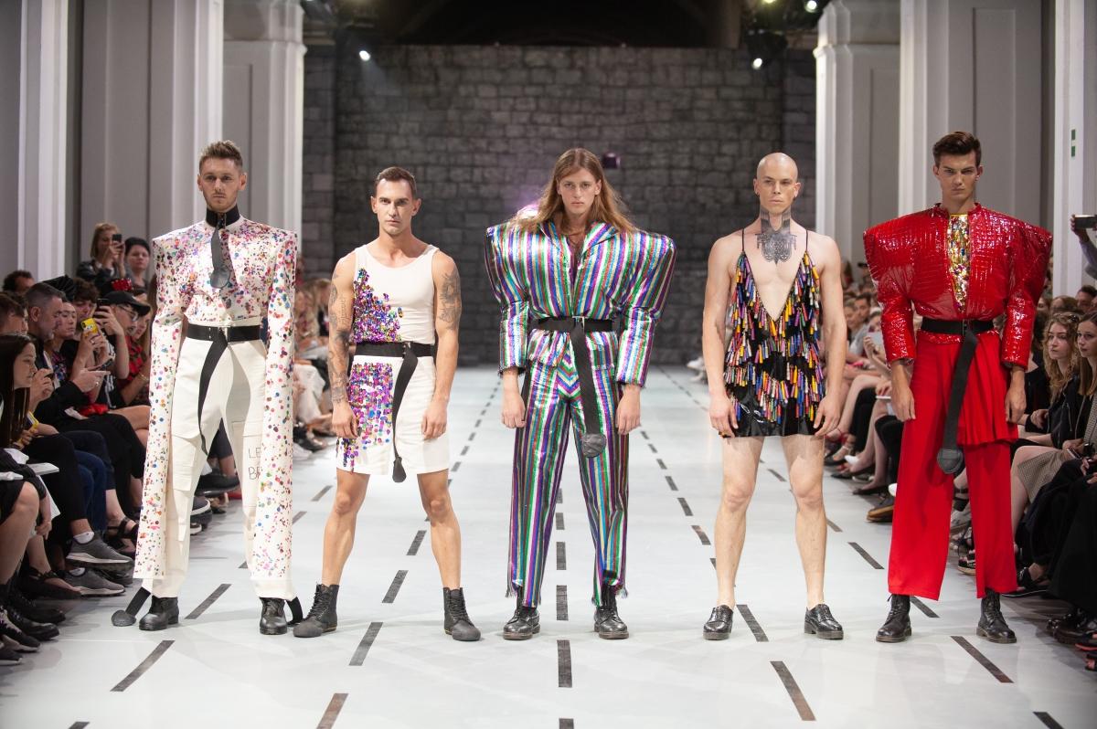 "Karl-Christoph Rebase kollektsioon ""Am I a Joke to You?"" Kiievis konkursil International Young Designers Contest. Foto: International Young Designers Contest"
