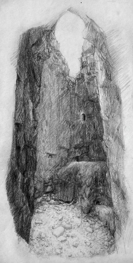 """Jussi Kivi """"Põrguauk päevavalguses"""", pliiats, 2015"""