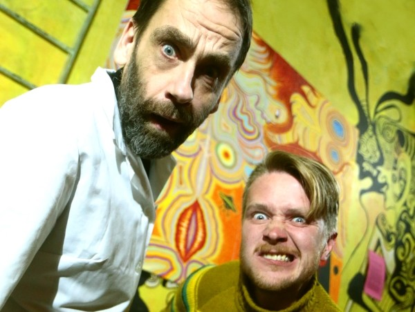 Jaan Malin ja Mihkel Kaevats aastal 2016 Tartus hullumas. Foto: Lauri Kulpsoo