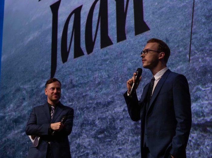 Näitleja Rain Tolk ja filmi režissöör Kaur Kokk (paremal). Foto: Karl Johanson
