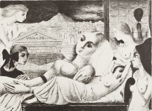 """Paul Delvaux (1897–1994) """"A Vanadé"""", 1969. erakogu, deponeeritud Musée d'Ixelles'i, Brüssel"""