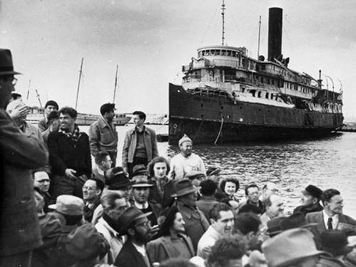 Juutide immigratsioon Iisraeli 1947. aastal. Foto Wikimedia Commons