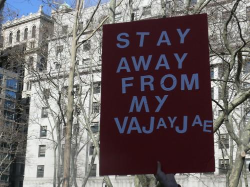 Lapsevanemaks saamise otsustamisvabadust toetav rahvakoosolek 26. veebruaril 2011 New Yorgis. Foto: Women's eNews (CC BY 2.0)